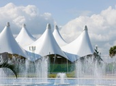 marquees and semi-permanent structures made with power textile fabric are an ideal use case